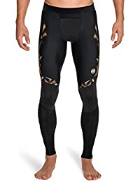 Skins A400 Mens Long Tights - Pantalones de running para hombre, color dorado, talla XL