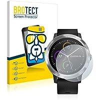 BROTECT Protector Pantalla Cristal Compatible con Garmin Vivoactive 3 / Forerunner 45 / Approach S40 Protector Pantalla Vidrio - Dureza Extrema
