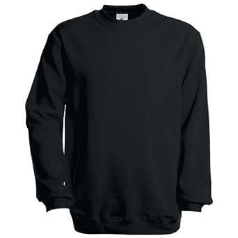 B&C Collection Men's Set-In Sweatshirt Black XX-Large