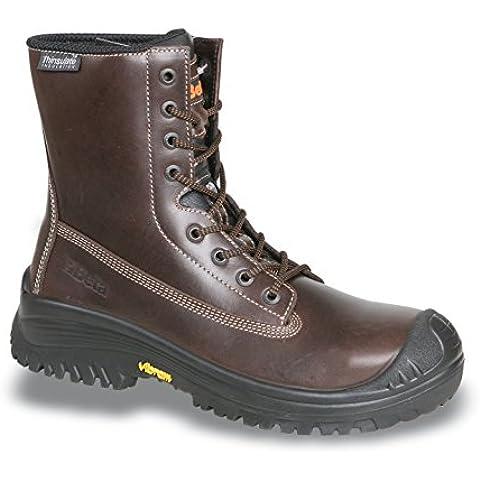 Beta 7295tnv–Zapatos de seguridad de piel schnürstiefel 20345S3HRO SRC, marrón, guantes de