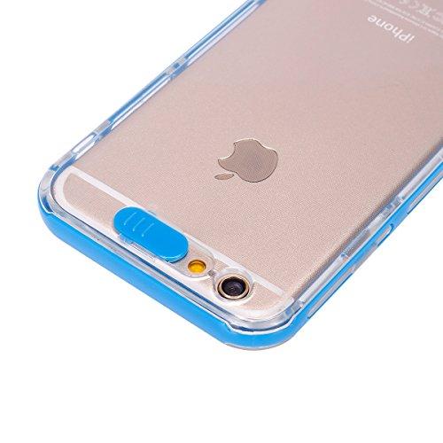 Ukayfe Custodia UltraSlim per iPhone 6 6S 4.7 ,iPhone 6 6S 4.7 Cover Case Morbida Soft Trasparente e Cristallo Protettiva Custodia con Marche Popolari Confine Resistente ai Graffi Anti Scivolo Case in Blu 1#