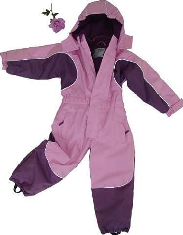 MAYLYNN Kuscheliger Schneeanzug Skianzug rosa atmungsaktiv und wasserdicht 5000mm, Größe:92