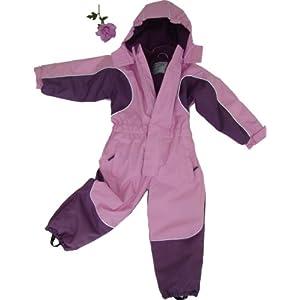 MAYLYNN Kuscheliger Schneeanzug Skianzug rosa atmungsaktiv und wasserdicht 5000mm