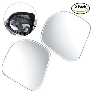 ALLCACA Toter Winkelspiegel Auto Rückansicht Spiegel mit 3M und HD konvexen Glas, Weitwinkel Blindspiegel 360° Rotation, 2er Set