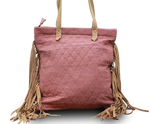 My-Musthave, Borsa tote donna Rosso Modell 3 Medio Modell 3