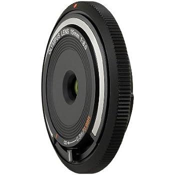 Olympus - Objectif ultra pancake 15mm 1:8.0 noir, positions hyperfocale et macro, fonction de capuchon protecteur,  compatible avec les hybrides Olympus et Panasonic