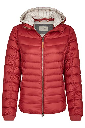 camel active Damen Steppjacke mit Abnehmbarer Kapuze Red Gr. 40 Rot 330810 8X44 50
