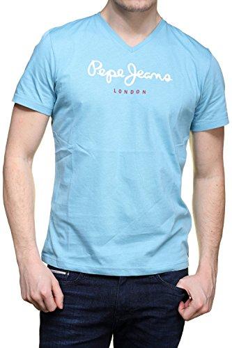 pepe-jeans-t-shirt-pm501389-eggo-v-546-ciel-couleur-bleu-taille-m