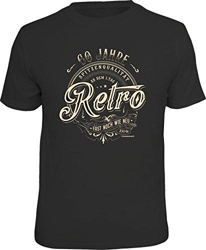 RAHMENLOS Original Geschenk T-Shirt zum 60. Geburtstag: 60 Jahre Retro, Fast S
