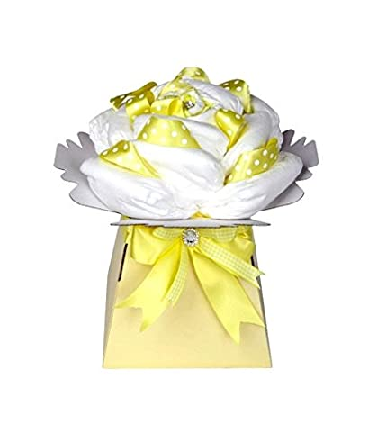 Rose Baby Yellow Unisex Nappy Cake / Neutral Baby Hamper
