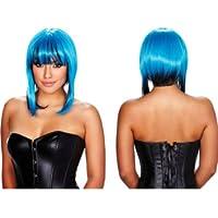 Pleasure Wigs Women's Belladonna Wigs, One Size, Blue/ Black