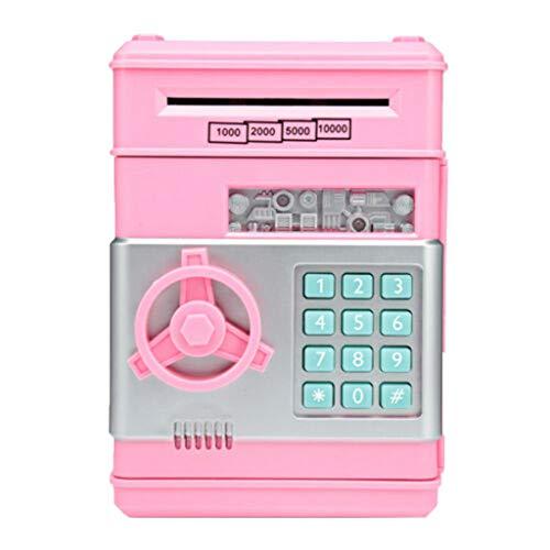 ad07accfcee0 MA87 - Hucha electrónica para cajero automático con contraseña, color  negro, azul, rosa y rojo, plástico, rosa