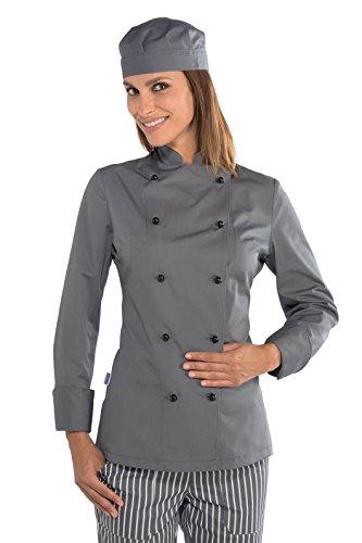 Isacco - Veste cuisine Lady Chef grise Gris