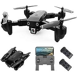 Goolsky CSJS166 GPS Drone con Cámara 1080P Sígueme Regreso Automático a Casa WiFi FPV Fotos en Video en Vivo RC Quadcopter para Adultos (1080p con 2 batería)