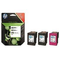 HP 300 3-pack Black(2)/Tri-color(1) Original Ink Cartridges (SD518AE) - Black and Tri-Colour