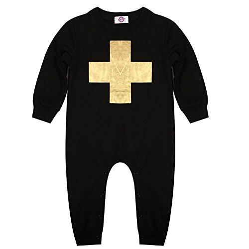 Boys Girls Infant Romper Jumpsuit Bodysuit Clothes(75)(Cross)