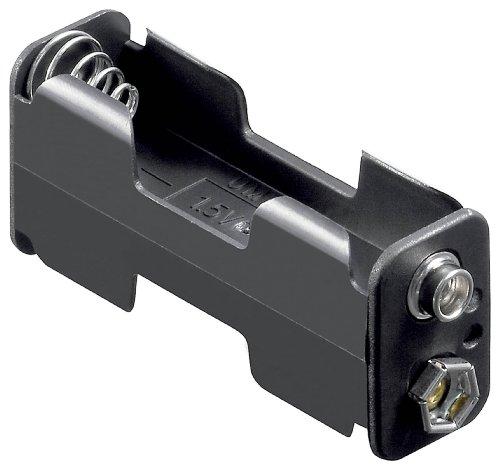 """Preisvergleich Produktbild Batteriehalter,  2x Mignon""""AA"""" mit Druckknopfanschluß"""