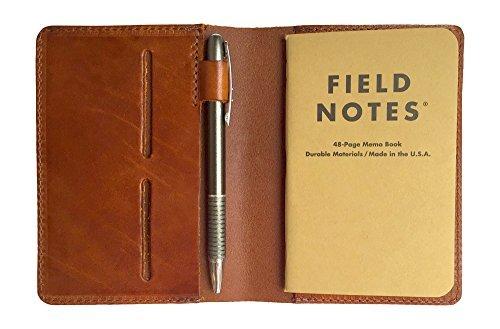 Full Grain Leder Zusammensetzung Tagebuch für Field Notes Notebooks Saddle Tan - Executive Top Grain Rindsleder