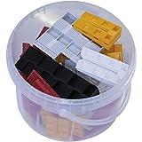 GV Montagkeile Kunststoff Set; 61 Stück Unterlegkeile; Justierkeile in 5 verschiedene Größen