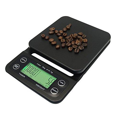 ZCH Haushalt Küchenwaagen mit Timer Multifunktions-Waage Kaffee-Bar Gewidmet