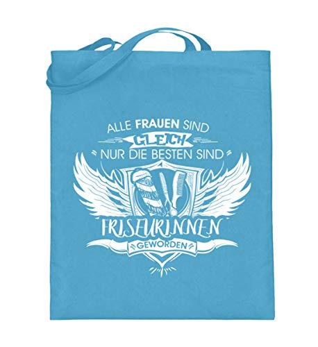 Friseurinnen T-Shirt/Alle gleich/Frisöse/Frisiersalon/Pullover/Friseur/Lustige Sprüche/Frisier-Zubehör/Die Friseuse/Geschenk - Jutebeutel (mit langen Henkeln) -38cm-42cm-Hellblau