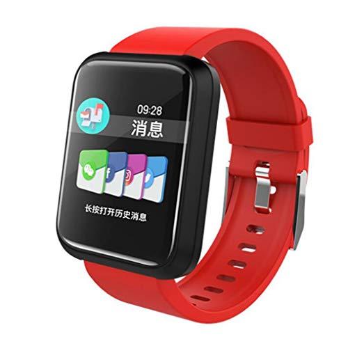 STEAM PANDA Intelligente Uhren mit Herzfrequenzmesser und Blutdruck-Sport-Pedometer wasserdicht IP67 230MAH Bluetooth 4.1 für iPhone/Android Frauen