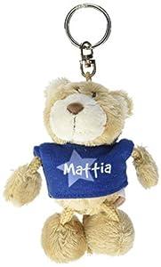 NICI n15889-Llavero Oso con Camiseta Mattia, Azul
