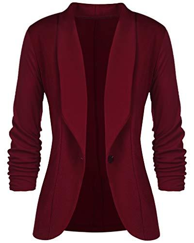 Socluer Giacche Elastiche Donna Taglie Forti Casual Classic Blazer Giacca da Lavoro