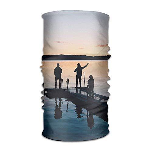 Sunset Family Fishing Unisex Variety Scarf Wrap Bandanna Headwear Neck Gaiters Head Scarf Face ()