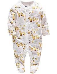 6dbcd69ab Mameluco del Bebé - Pijamas Bebé Peleles Algodón Mameluco Chicos Monos Mangas  Largas Trajes