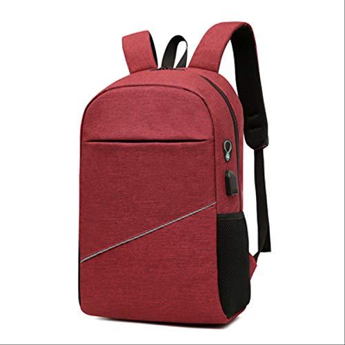 Burgund Skate (KHDJH Rucksack Mode USB Charge Laptop Tablet Rucksack Teenager Jungen Mädchen Schularbeit Für Männer Frauen Büro E Burgund)