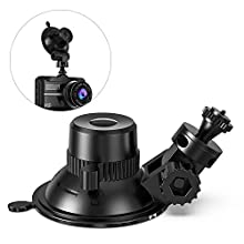 Car Suction Cup for Dash Cam Holder Vehicle Video Recorder on Windshield & DashBoard Mount 360 Degree Angle View