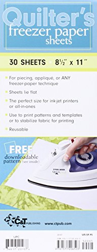 """Quilter's Freezer Paper Sheets: 30 Sheets: 8 1/2"""" X 11"""""""