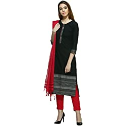 Aurelia Women's Straight Kurta (16AUK12857-78372_Black_Large)