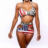 Sommer Sexy Frauen Stars and Stripes UK Flagge Bikini padded bandeau Badeanzug American Flagge Badebekleidung Berufung Strand schwimmen S BJN0097