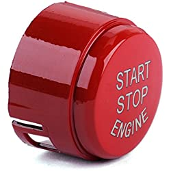 beler Red Start Stop Engine Push Button Switch Cover