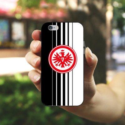 Apple iPhone X Silikon Hülle Case Schutzhülle Eintracht Frankfurt Fanartikel Fußball SGE Silikon Case schwarz / weiß