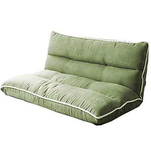 Wghz Japanische Faule Schlafsofa, Schlafzimmer bequemen Stuhl Freizeit Boden Balkon Sofa Stuhl Klappstuhl, 4 Farben, 60x70x50cm (Farbe: hellgrün)