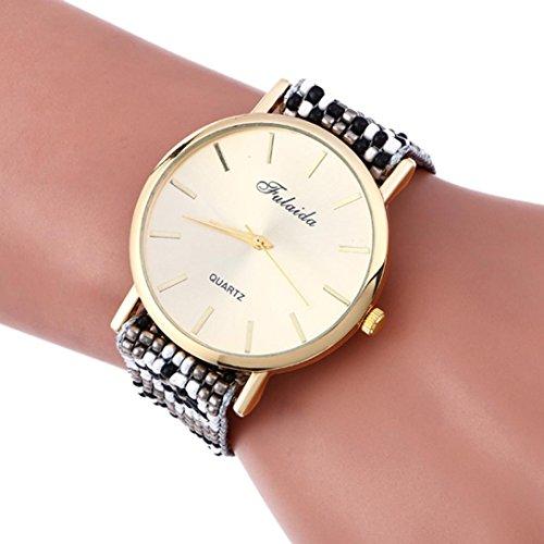 Hunpta Weaving Modeuhren Armband Dame Womans Armbanduhr (L)
