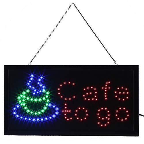 Cocoarm LED Leuchtschild Leuchttafel Werbeschild Leuchtreklame Schild Neon Licht Fenster Tür Hang...