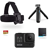 GoPro Kit HERO8 Black - Incluye Shorty, Correa para la Cabeza, batería de Repuesto y Tarjeta de Memoria de 32 GB
