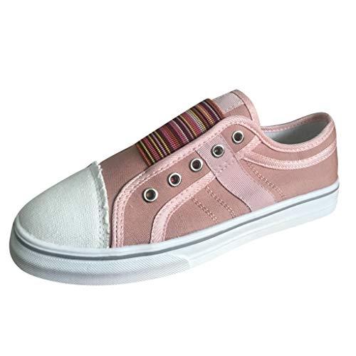 XNBZW Damen Plateau Loafer Halbschuhe Flache Fahren Espandrillos Slippers Schnellverschluss Atmungsaktiv Freizeit Schuhe(Rosa,42)