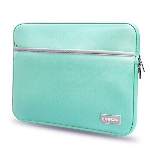 ibenzer-premium protettiva in neoprene Laptop Sleeve Borsa Custodia Con Tasca per accessori turchese Turquoise 11 Inches