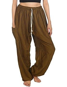 Lofbaz Mujeres Harem Pantaloni Harén de cintura de cordón Hippie Boho