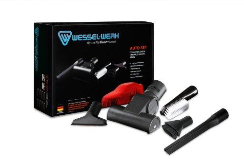 Wessel 10.9 067-300 Staubsaugerdüsen Auto-Set 5-teilig, bestehend aus einer Fugen-/Turbo-/Polster Düse, Saugpinsel, Universalbürste mit Universaladapter