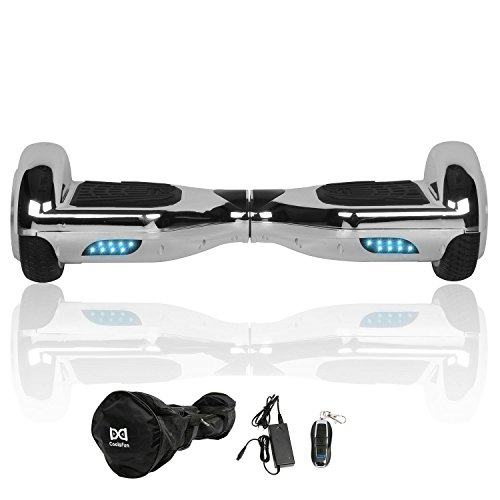 "Cool&Fun 6.5"" Hoverboard Patinete Eléctrico Scooter Monopatín Eléctrico Auto-equilibrio Patín From SHOP GYROGEEK (Silver Gray)"
