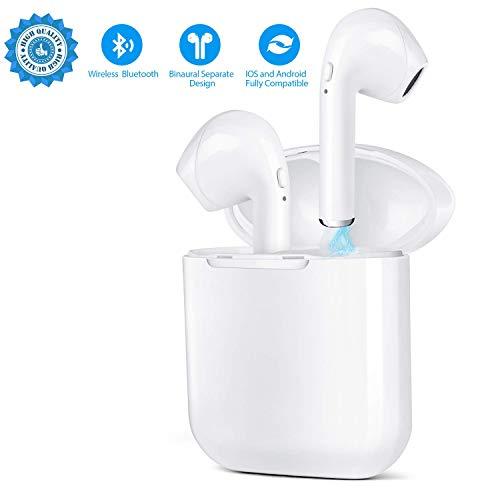 Wireless Bluetooth Headset V4.2 In-Ear-Kopfhörer kabellose Headsets Stereo-Mini-Kopfhörer wasserdicht Geräuschunterdrückung mit Ladekoffer und eingebautem Mikrofon - Mini Stereo Wasserdicht