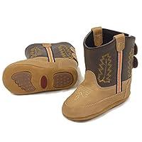 Westernwear-Shop Baby lederen cowboylaarzen Western laarzen Boy Baby-Western laarzen kinder-Western laarzen Cowboy Boots voor jongens bruin