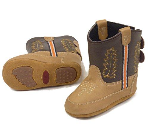 Westernwear-Shop Baby Leder-Cowboystiefel Westernstiefel Boy - Baby-Westernstiefel Kinder-Westernstiefel Cowboy Boots für Jungen (3) Braun (Western-stiefel Baby,)