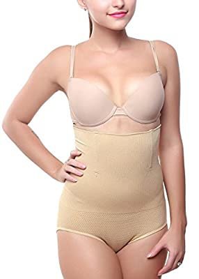 Shoppy Villa Womens Tummy & Waist Shaper with Leather Waist Belt (High Waist-Skin_Skin_Free Size)